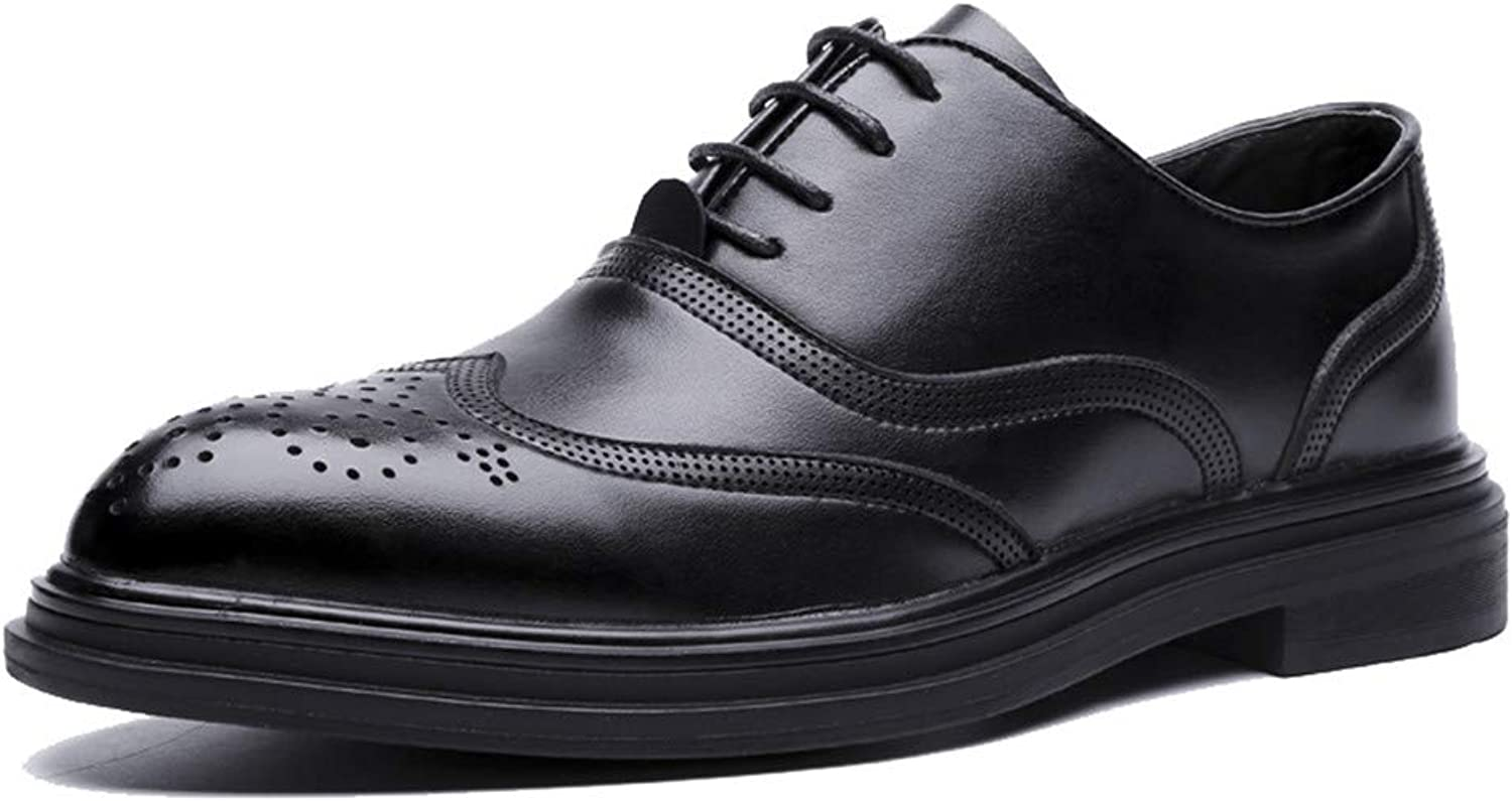 CHENXD shoes, Men's Fashion Retro Brush color Business Oxford Casual Classic Outsole Brogue shoes