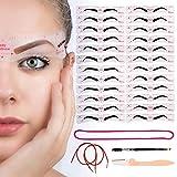 Best Eyebrow Stencils - Eyebrow Stencil Reusable Shaper Kit - 24 Styles Review