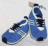 Patucos, zapatos para bebé de crochet, Unisex. color a elegir, 100% algodón,...