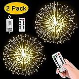 StillCool Feuerwerk Licht, 2 Stück 150 LED Hängend Lichterkette 8 Modi Wasserdicht Starburst...