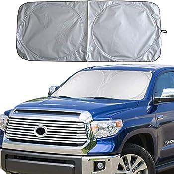 YDOTUSE Windshield Sun Shade Car Window Shade UV Reflector Keeps Vehicle Cool Folding Sun Visor Heat and Sun Reflector  Ultra-Large 70 x 35 inches