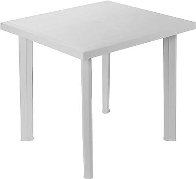 Tavolo Giardino Plastica Prezzo.Tavolo Tavolino Quadrato In Resina Di Plastica Bianco Fiocco Per Esterno Interno Giardino Balcone Amazon It Giardino E Giardinaggio