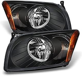 For Dodge Caliber OE Replacement Black Bezel Headlights Driver/Passenger Head Lamps Pair New