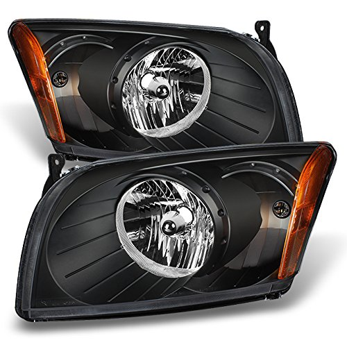 For Dodge Caliber OE Replacement Black Bezel Headlights Driver/Passenger Head Lamps Pair New