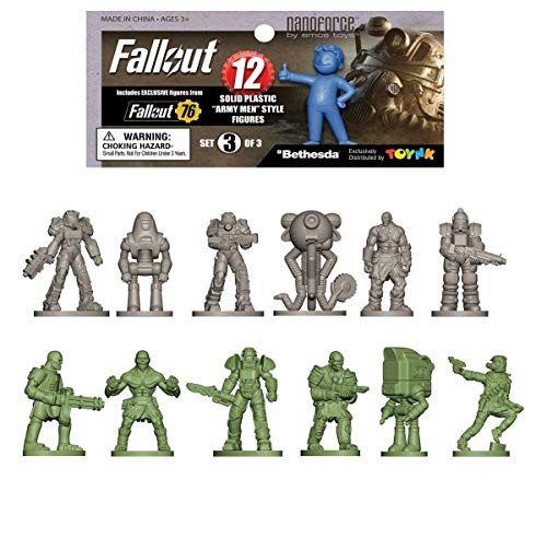 Fallout Nanoforce Series 1 Army Builder Figure Collection - Bagged Set 3 | Vault Boy | Nuka Cola | Special Edition Collectible Gaming Figures |