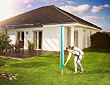 Leifheit Séchoir parapluie Linomatic 500 Deluxe Cover, étendoir parapluie grande surface d'étendage avec douille fixation et housse de protection, séchoir à linge jardin solide et résistant, Easy-lift