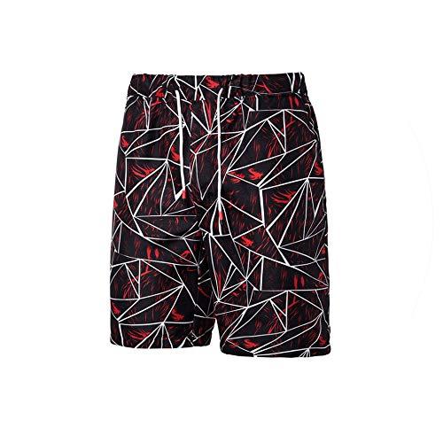 Hot Men's Print Board Shorts Quick Dry Beach Shorts Surfing Beach Wear Floral Short Men Boardshorts,Wine red-k11,L