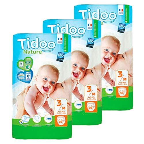 Pack Pañales T3 Midi (4/9 kg) Tidoo 168 uds