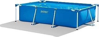 INTEX Metal Rectangular Frame Pool, Blue, 3 Mt x 2 Mt, 28272