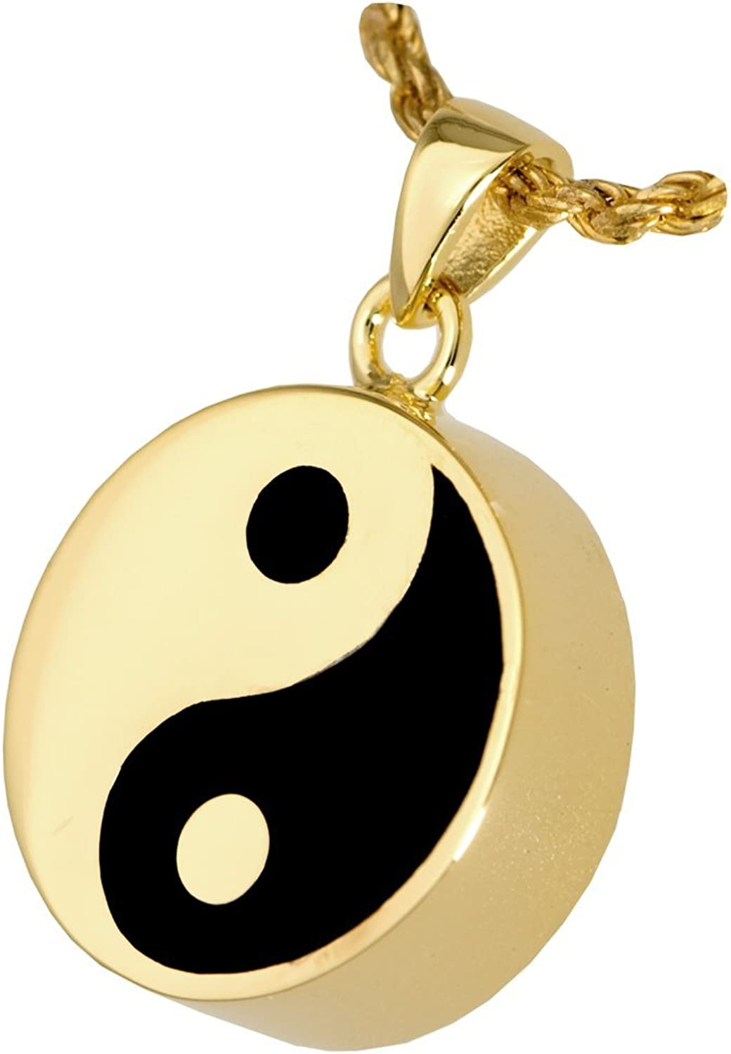 Memorial Gallery Yin Yang Double Compartment 14K gold Silver