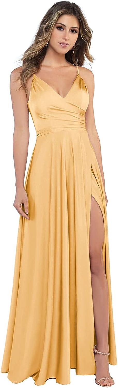 Miao Duo Sale Spaghetti New arrival Straps Satin Bridesmaid for Dresses For Women