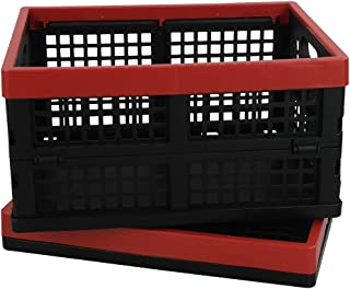 """Cand Plastic Collapsible Container, Storage Crates, 13.5"""" x 10.3"""" x 7.2"""", 2 Packs"""