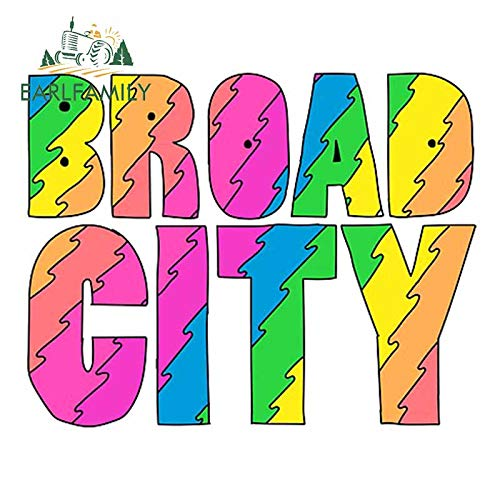 A/X 13cm x 10.4cm for Broad City Colorul Laptop Surfboard Decal Scratch-Proof Bumper Car Sticker RV Waterproof Graphics