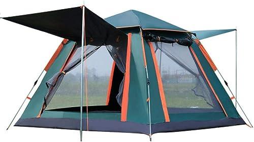 Guang Pop-up Camping Tente de randonnée Camouflage imperméable Voyage en Plein air en Famille, Tente + Tapis résistant à l'humidité + hamac (3-4 Homme