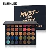 Beauty Glazed 35 Farben Smokey Lidschatten Palette Matte Langlebig & Schimmer Warm Farbe...
