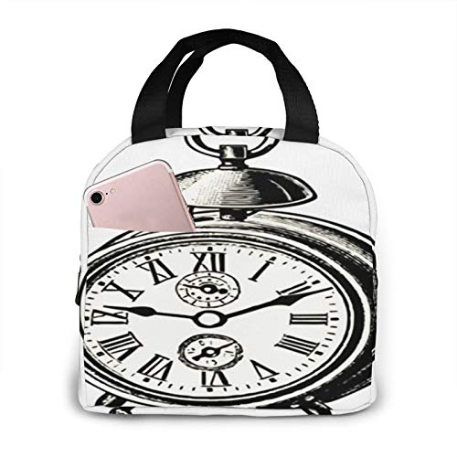 Bolsa Termica Comida Trabajo Almuerzo Porta Alimentos Infantil Niños Oficina Bolsa Calor Hombres Mujer Catálogo de relojes grabados