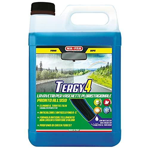 Mafra HN035, Tergy 4, Liquido Lavavetri Pluristagionale Pronto all Uso per Vaschette Tergicristallo, 4500ml
