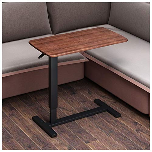 Nachttisch Beistelltisch Pflegetisch Höhenverstellbar Neigbar Rollen,Bett-Beistelltisch Für Krankenbett, Pflegebett, Laptoptisch (Color : Dark wood black legs)