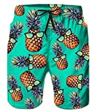 Leapparel Mens Swim Trunks Pineapple Graphic 3D Printed Blue...