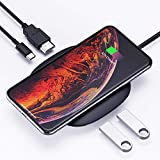 AUKEY USB C Hub Adapter with Wireless Charger 5-in-1 Type-C Hub with 2 USB 3.0 Ports, 4K HDMI and 100W Power Delivery Compatible with MacBook Pro 2019/2018/2017, Google Chromebook/Pixelbook and More
