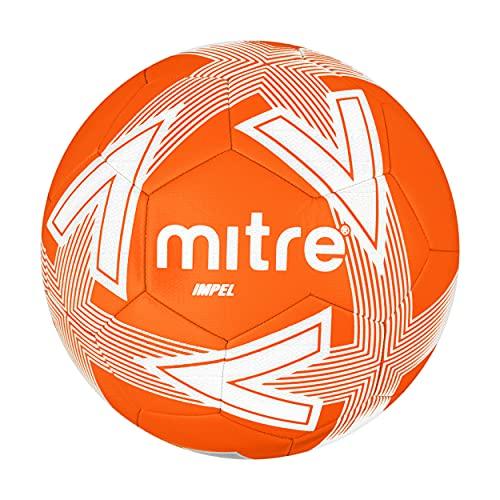 Mitre Impel - Balón de fútbol sin Bola, Color Naranja/Blanco, Talla 3