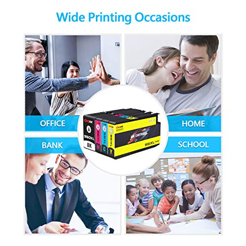 ONEINK Compatible Ink Cartridge Replacement for HP 950XL 951XL 950 XL 951 XL Ink Cartridge to use with HP OfficeJet Pro 8600 8610 8620 8100 276DW 271DW Printers,4 Pack(Black,Cyan,Magenta,Yellow) Photo #4