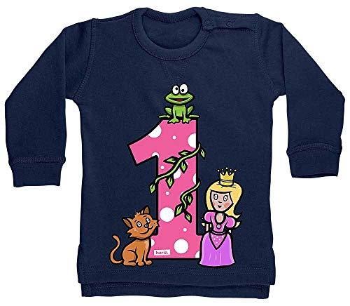 Hariz - Suéter para bebé, diseño de princesa de cuento de cuento de princesa, 1 cumpleaños infantil, tarjeta de regalo, color azul oscuro, 6 – 12 meses