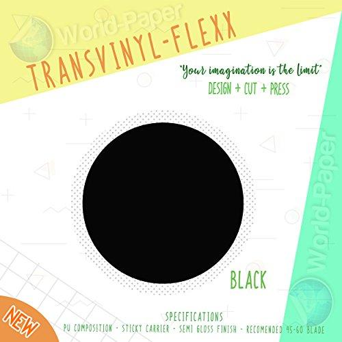 Heat Transfer Vinyl 10' x 10 Yards Roll T-Shirt Iron ON All Cutting Machines. (Black)
