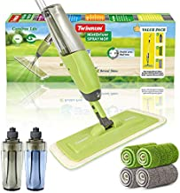 MistDriver Floor Cleaning Spray Mop with 4 Extra Large Microfiber Pads and 2 High Capacity Bottles, Home or Commercial Use, Professional Dusting for Hardwood Laminate Tile Marble Floors by TWINRUN
