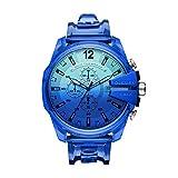 Diesel Reloj Analógico para de los Hombres de Cuarzo con Correa en plástico, Azul DZ4531