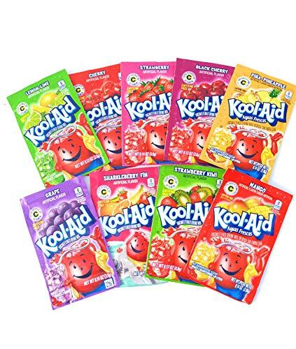 Kool-Aid Variedad Pack de 8 bolsitas sin azúcar sabor