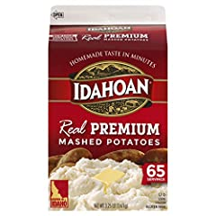 Made with 100-Percent Real Idaho potatoes Naturally Gluten-Free potatoes perfectly blended with rich butter for a classic favorite Convenient 65 servings carton Easy and quick to prepare—simply add water and ready in minutes Great to pair with any me...
