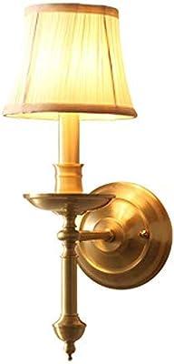 Lámpara de pared Dormitorio lámpara de noche sala de estar habitación interior escalera pasillo puerta luz simple lámpara decorativa lámpara de cobre: Amazon.es: Iluminación