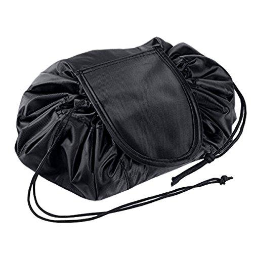 Motglobal Portable Cordon de serrage Sacs de maquillage Toilette Cosmétique Avec Grand Compartiment de rangement organiseur Pochette pour voyage