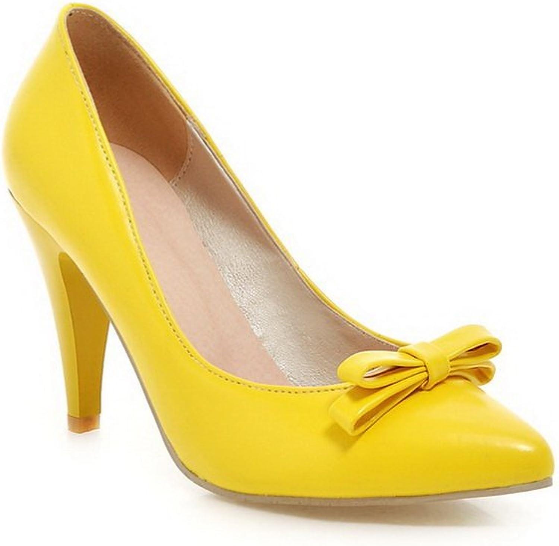 BalaMasa Ladies Slip-On High-Heels Solid Soft Material Pumps-shoes