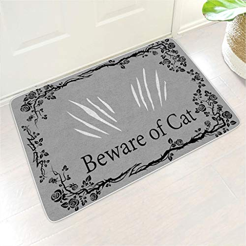 Knowikonwn Welcome Mat Hope You Like Cats Rectangular Floor Mat Non-Slip Design Outdoor Indoor Front Door use - Funny Pets Lover for Home Decor white 18x30 inch