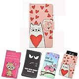 ikracase Slide Motiv Hülle für Hisense Sero 5 Smartphone Handytasche Handyhülle Schutzhülle Tasche Case Cover Etui Design 5 - Katze I love you