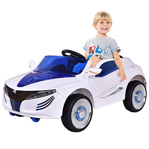 RC Kinderauto kaufen Kinderauto Bild 1: COSTWAY 2.4G Elektroauto Kinderauto Elektrofahrzeug Kinderfahrzeug Elektro Auto Zwei Motor mit Fernbedienung und Musik (Weiß)*