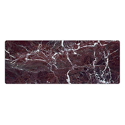 Partage 1 x Mauspad in Marmor-Optik, bequemes Mauspad, superfeine Faser, rutschfeste Unterseite, Farbe wie abgebildet., seaming 80x30x0.15cm