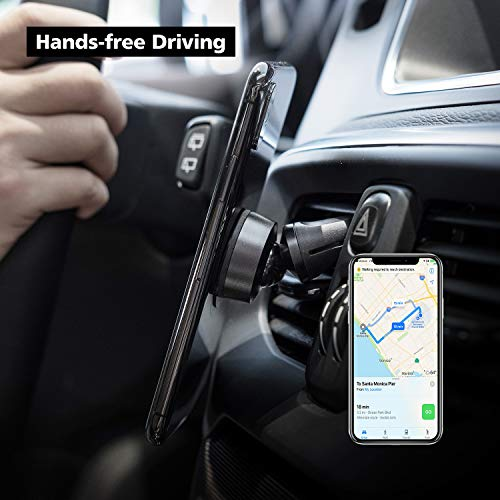 nonda ZUS Magnetic Car Mount, Air Vent Car Phone Holder, 360 Degree Adjustable, with Adhesive-Free Static Cling Sticker, High-Powered Magnets, Universal for iPhone Samsung LG Nexus Sony and More