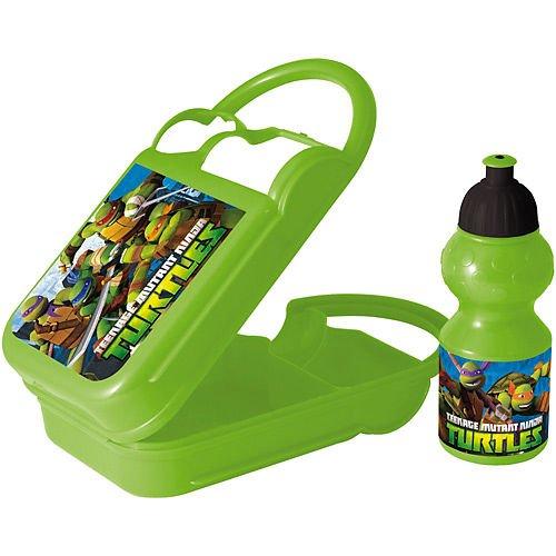 Joy Toy 748470– Fiambrera con Botella de plástico Multicolor (400ml) – Diseño de Las Tortugas Ninja