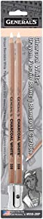 General Pencil 5582BP Charcoal White Pencils 2/Pkg-2B
