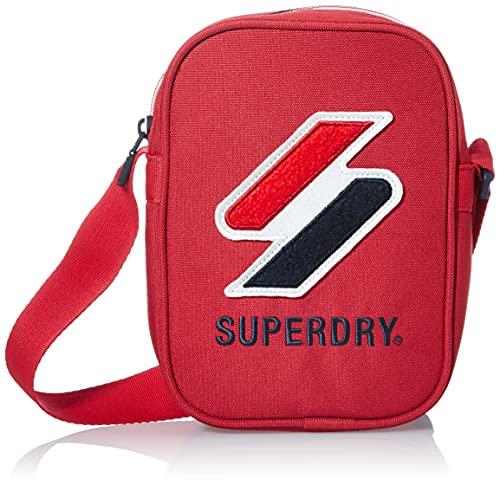 Superdry Mens Sportstyle Side Shoulder Bag, Risk Red, One Size
