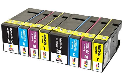 PGI-1500XL TONER EXPERTE® 8 XL Druckerpatronen kompatibel für Canon MAXIFY MB2350 MB2750 MB2755 MB2050 MB2150 MB2155 9182B001 9193B001 9194B001 9195B001 | hohe Kapazität