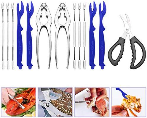 Seafood Tools Set Nut Cracker Forks Set Crab Crackers Lobster Opener Shellers Lobster Crackers product image