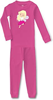 Tooth Fairy Hot Pink Cotton Crewneck Boys-Girls Sleepwear Pajama 2 Pcs Set