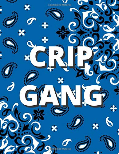 Crip Gang Blue Bandana [Design 2] (Blank Lined Journal / Notebook / Songwriting Book) For Real Gangstas