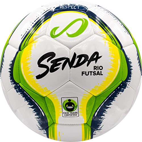 Senda Rio Training Futsal Ball, Fair Trade Certified, Green/Yellow, Size 4 (Ages 13 & Up)