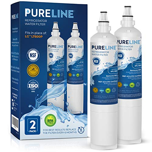 PURELINE 9990 & LT600P Water Filter Replacement with Advanced Filtration. Compatible with Kenmore 9990, LG 5231ja2006a, LG LT600P, Kenmoreclear 46-9990-PURELINE (2 Pack)