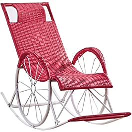 DFANCE Chaise à Bascule légère en rotin, Chaise Longue de Soleil Chaise de Relaxation inclinable pour Jardin Patio Lawn…